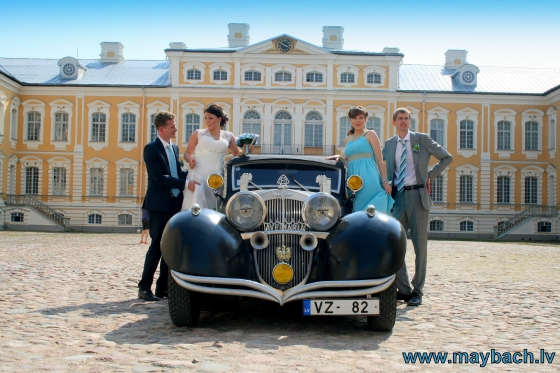 WEDDING MAYBACH IN RUNDALES CASTLE , LATVIA.