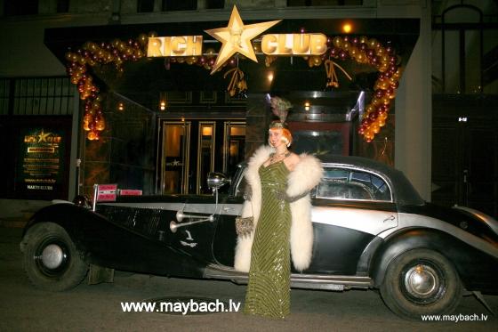 ШОУ-КАР (SHOW CAR ) MAYBACH SW 42 AVE MARIA НА ОТКРЫТИИ КЛУБА