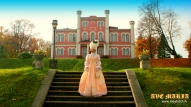 RETRO STYLE'S WEDDING DRESS IN BIRINI CASTLE,LATVIA. PHOTO BY JURIS LARIS,MODEL-AVA MARIA.