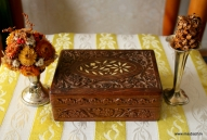 №488.FRETTED SMALL BOX FROM MOHOGANY.