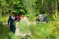 MAYBACH AVE MARIA . WEDDING IN THE NATIONAL PARK '' KEMERI'' (LATVIA)