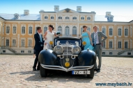 WEDDING MAYBACH IN RUNDALES CASTLE , LATVIA.