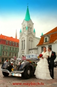 WEDDING MAYBACH SW 42 AVE MARIA IN OLD RIGA.