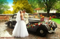 WEDDING MAYBACH SW 42 AVE MARIA IN OLD RIGA, LATVIA.